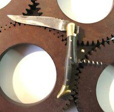 Old Pocket Knife horn handle LAGUIOLE AUTHENTIQUE DASSAUD couteau manche corne