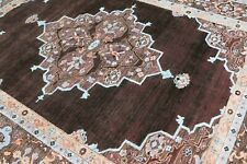 Medallion 8'x10' Hand Knotted Oxidize Persian Antique Old Style Silk & Area Rugs