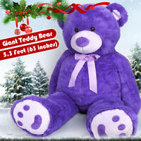 "63"" Giant Plush Teddy Bear Big Huge Stuffed Animals Toy Christmas Holiday Gifts"