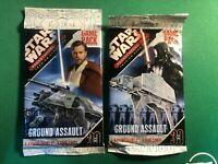 2 x Star Wars Pocketmodel TCG Ground Assault Games Packs