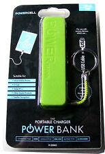 Green Power Bank Portátil Cargador de teléfono móvil de emergencia + 20CM Micro USB de plomo