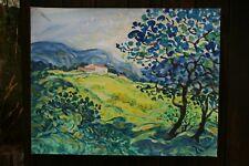 tableau peinture/papier P.Pascalet peintre provençal  haut Var C.76