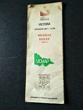 WALHALLA TOPOGRAPHIC MAP VICMAP GIPPSLAND VICTORIA AUSTRALIA GOLD MINE
