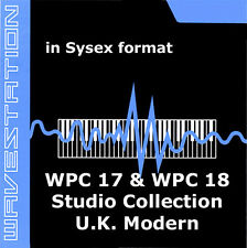 sysex sound for Korg Wavestation of the WPC-17 WPC18 studio collection uk modern