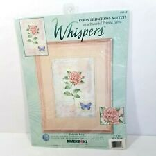 DIMENSIONS count cross stitch kit 35042 Whispers Delicate Rose Butterfly