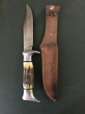 Vintage EDGE BRAND #54 Hunting Camping Bowie Knife