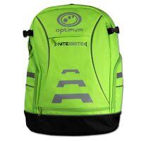 Optimum Sports Nitebrite High Vis Padded Back And Shoulder Cycling Backpack