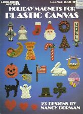 Holiday Magnets for Plastic Canvas - Leisure Arts Pattern Leaflet 246