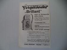 advertising Pubblicità 1933 VOIGTLANDER BRILLANT