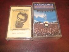 PAUL MCCARTNEY FLAMING PIE & KNEBWORTH CONCERT SEALED 2 CASSETTES 1990 RELEASES