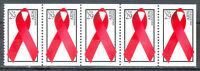 US Stamp (L1361) Scott# 2806b, Mint NH OG, Nice Booklet Pane, Aids Awareness
