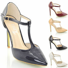Party Mary Janes Stiletto Synthetic Leather Shoes for Women