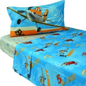 3pc DISNEY PLANES TWIN BED SHEET SET - Dusty Crophopper El Chupacabra Bedding