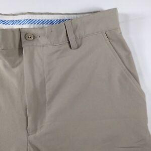 FootJoy Men's W32/L32 Casual Light Beige Flat Front Golf Pants