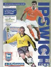IPSWICH TOWN  HOME PROGRAMMES 1999/2000 POST FREE