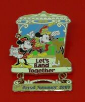 Used Disney Enamel Pin Badge Cast Member Exclusive Lets Band Together 2009 Music