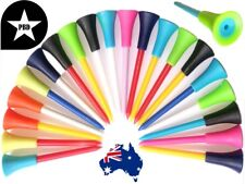 50 Quality Plastic & Rubber Top Golf Tees Durable & Bright Colors 83mm FREE POST