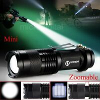 Adjustable Focus Zoom In/Out Q5 LED 7 W 300lm Bright Mini Flashlight Torch