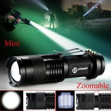 Adjustable Focus Zoom In/Out CREE Q5 LED 7 W 300lm Bright Mini Flashlight Torch
