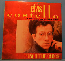 ELVIS COSTELLO PUNCH THE CLOCK LP 1983 ORIGINAL PRESS GREAT COND! VG++/VG++!!