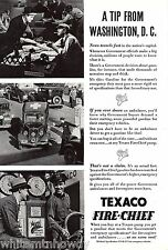 1935 TEXACO Fire-Chief Gasoline AD Antique Gas Pump~Ambulance Photo