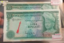 Willie : Malaysia RM5 ISMAIL ALI 3rd SERIES (UNC) R/N TONING Error serial Number