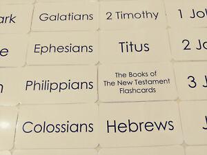 27 Laminated New Testament Flashcards.  Child Christian Educational Bible Study
