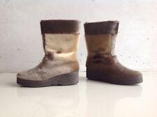 Luna Eskimod Yeti Stiefel Lammfell Winter Boots 37 UK4.5 Vintage Retro