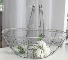 Frankreich, großer Drahtkorb, Draht Korb,Henkelkorb, French Basket, Eisen, 41 cm