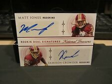 National Treasures Dual Autograph Redskins Matt Jones Jamison Crowder 02/25 2015