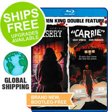 Misery / Carrie Stephen King Double Feature (Blu-ray, 2018) NEW, Bates, Spacek