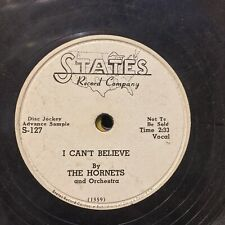 Hornets I Can't Believe Lonesome Baby STATES 127 WLP early rock roll r&b doo wop