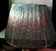 Large Silver metal Vintage Lamp Shade Handmade. Let's light through beautifully.