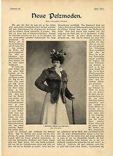 Neue Pelzmoden Kaiserzeit Russisches Jäckchen aus Irbitfuchs Persianerjacke 1901