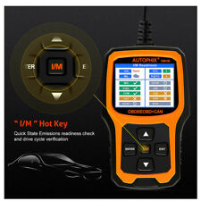 OM126 Car OBD OBD2 Code Reader Check Engine Light Auto Scanner I/M Readiness