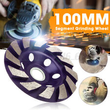 4'' Diamond Segment Grinding Concrete Grinder Cup Wheel Disc Masonry Marble