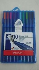 Staedtler Triplus Ball - 10 Colors Ballpoint Pens Set 1.0 mm - Thick Tip