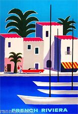 French Riviera France Vintage Travel Art Poster Advertisement