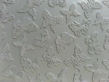 Unmounted A2 Stamp for Polymer Clay ~ BUTTERFLIES ~ PrintMakers Rubber Stamp