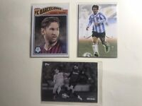 Lot: 3 Lionel Messi Cards — Topps Living On Demand Futera FC Barcelona Argentina