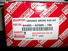 GENUINE TOYOTA TACOMA 2002 FRONT BRAKE PADS 04465-AZ005-TM