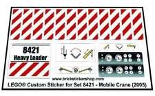 Replica Pre-Cut Sticker for Technic set 8421 - Mobile Crane (2005)