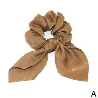 Elastic Hair Rope Tie Band Bow Scrunchie Scarf Ponytail Holder Accessories R4W6