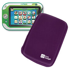 DURAGADGET Hard Purple EVA Dual Zip Protective Case for Leapfrog LeapPad Glo