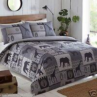 KRUGER African Safari Linen Reversible Duvet Cover/Quilt Cover Set Bedding