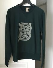 100% Authentic Burberry Brit men's sweatshirt, green, size S. New Without Tag