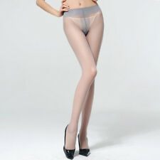 Sexy women T Socks Silky Smooth Knit Stockings One Size Gray A