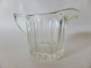 Small Depression Glass Creamer, Vintage Milk Jug, Art Deco Pressed Glass