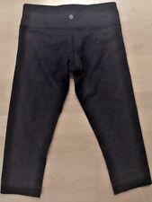 Lululemon Wunder Under Crop Pants Blue Denim size 4 Yoga Gym Run Dance Play