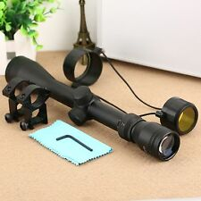 Tactical 3-9x40 Rifle Scope Mil-Dot Optics Sight Illuminated for 20mm Rail Mount